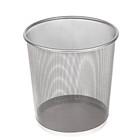 Корзина для бумаг сетка металлическая серая 10 литров