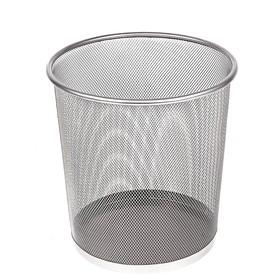 Корзина для бумаг, 10 литров, серая металлическая сетка