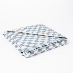 Одеяло байковое размер 100х140 см, цвет микс для универс., хл80%, ПАН 20%, 420гр/м - фото 3655796
