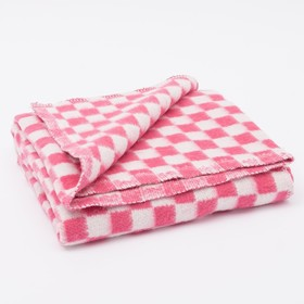 Одеяло байковое размер 90х140 см, цвет микс для дев., хл80%, ПАН 20%, 420гр/м