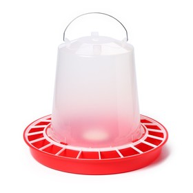 Drinking bowl for poultry, 12 l, with tube