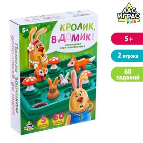 Настольная игра-головоломка «Кролик, в домик!»