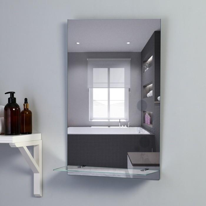 Зеркало «Поющая поночка», с пескоструйной графикой, настенное, с полочкой, 40×60 см