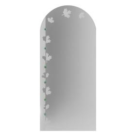 Зеркало «Клён», с пескоструйной графикой и фьюзингом, настенное, 50×110 см