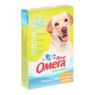 """Лакомство Омега Nео+ """"Здоровые суставы"""" для собак, с глюкозамином и коллагеном, 90 табл"""