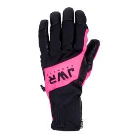Перчатки Jethwear Empire с утеплителем, чёрный, розовый, XS