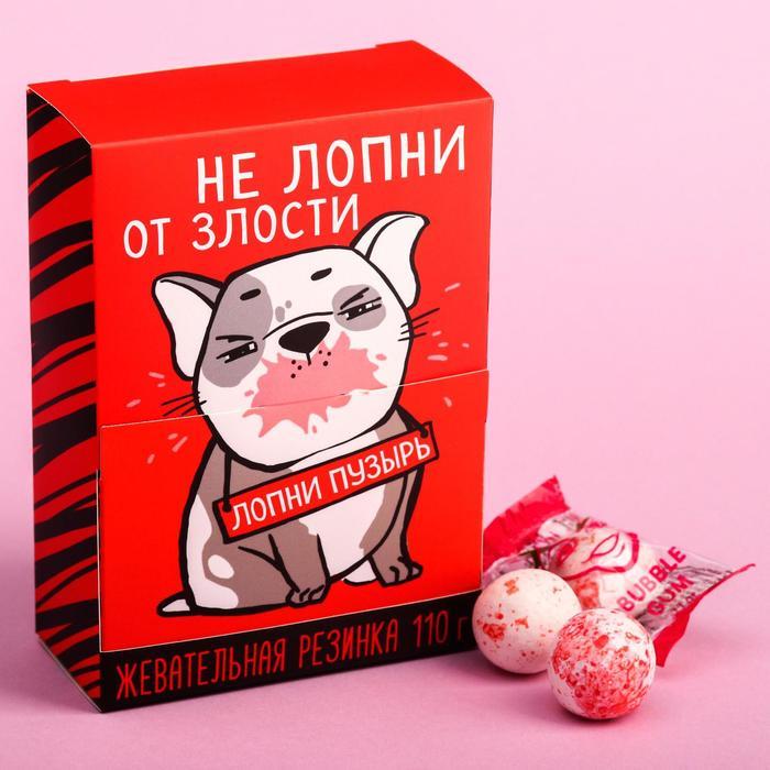 Жевательная резинка «Не лопни от злости, лопни пузырь», в коробке/, 110 г