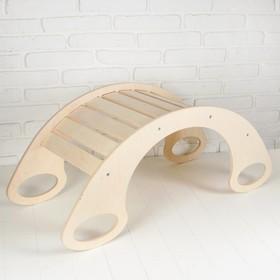 Горка - качалка, 76 × 36 × 40 см, неокрашенная