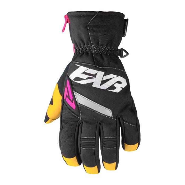 Перчатки FXR CX с утеплителем, чёрный, розовый, XS