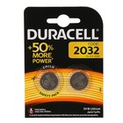 Батарейка литиевая Duracell, CR2032-2BL, 3В, блистер, 2 шт.