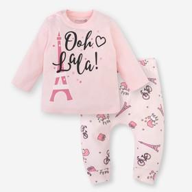 """Комплект Крошка Я: джемпер, брюки """"Париж"""", розовый, р.30, 98-104 см 2645255"""