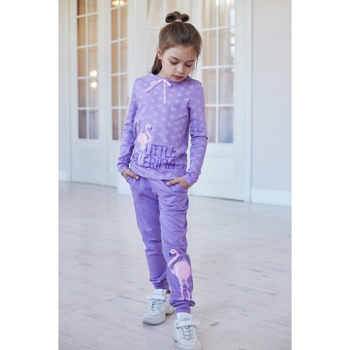 "Брюки KAFTAN ""Ballerina"" р.30 (98-104), фиолетовый - фото 105571538"