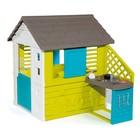 Игровой домик с кухней, цвет синий