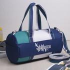 Сумка спортивная, отдел на молнии, наружный карман, длинный ремень, цвет синий/белый/бирюзовый