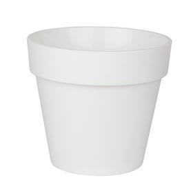 Пластиковый горшок с вкладкой «Протея», ПР 17-10, цвет белый