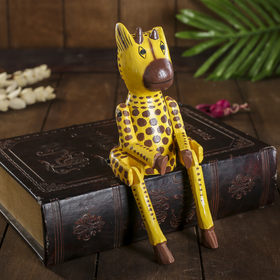 """Сувенир """"Жираф-висячие лапки"""" дерево 4,5х9х23 см"""