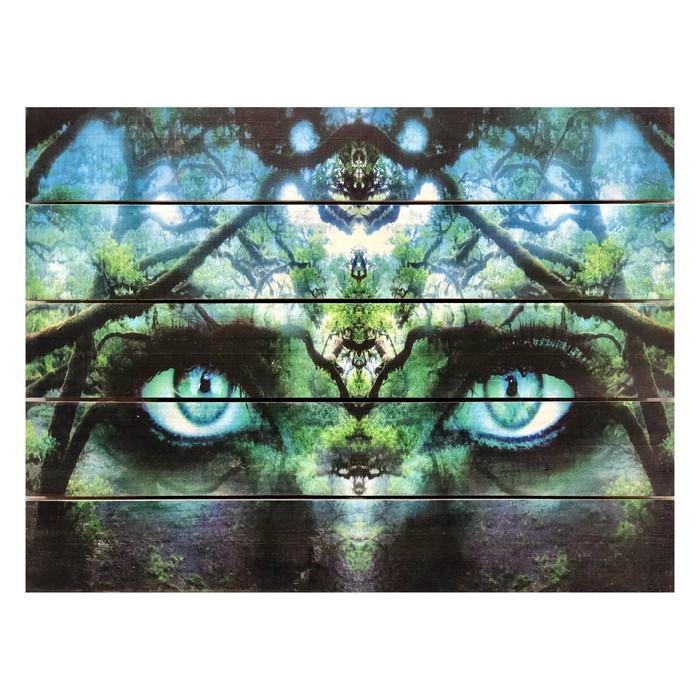 """Картина для бани, тематика арт """"Взгляд"""", МАССИВ, 40×30 см"""
