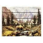 """Картина для бани, тематика природа """"Медведь на ручье"""""""