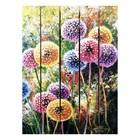 """Картина для бани, тематика цветы """"Разноцветные одуванчики"""""""