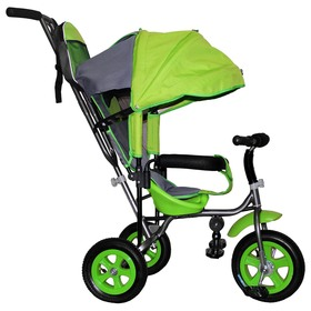 """Велосипед трехколесный Лучик Малют 1, надувные колёса 10""""/8"""", цвет салатовый"""