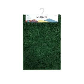 Коврик для ванной Multisoft, 60 х 90 см, цвет зелёный
