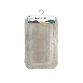 Коврик для ванной Multisoft, 50 х 80 см, ворс 20 мм, цвет бежевый