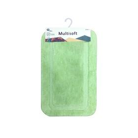 Коврик для ванной Multisoft, 50 х 80 см, ворс 20 мм, цвет зелёный