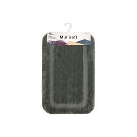Коврик для ванной Multisoft, 50 х 80 см, ворс 20 мм, цвет серый