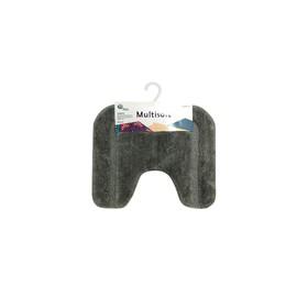 Коврик для туалета Multisoft, 45 х 55 см, ворс 20 мм, цвет серый
