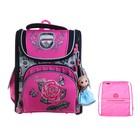 Ранец Стандарт раскладной Across 195 35*28*15 +мешок дев, розовый ACR19-195-09