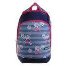 Рюкзак школьный эргоном.спинка Merlin GL3 38*28*18 дев, синий/красный ACR19-GL3-01