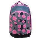 Рюкзак школьный эргоном.спинка Across GL3 38*28*18 дев, чёрный/розовый AC19-GL3-04