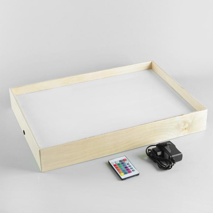 Планшет для рисования песком 35х50 см фанера оргстекло с цветной подсветкой   М3550С