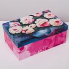 Коробка подарочная «Цветы», 24 × 15.5 × 9.5 см