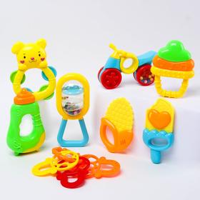 Набор погремушек «Играть веселее!», с прорезывателями, 8 предметов