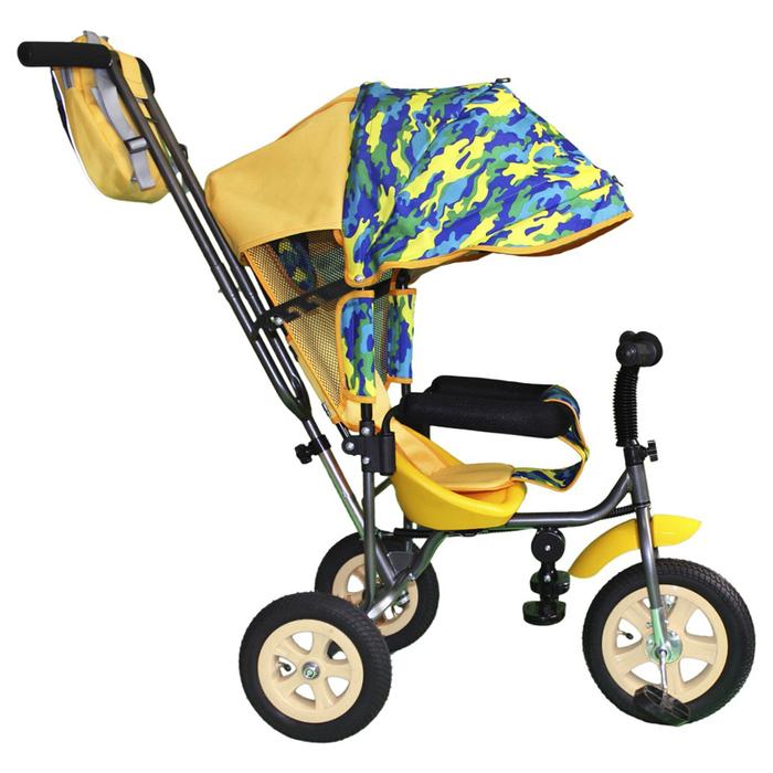 """Велосипед трехколесный Лучик Малют 1, надувные колёса 10""""/8"""", цвет хакки-синий"""
