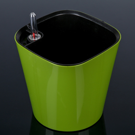 Горшок с автополивом «Комфорт», 2,7 л (вставка 2 л), цвет оливковый