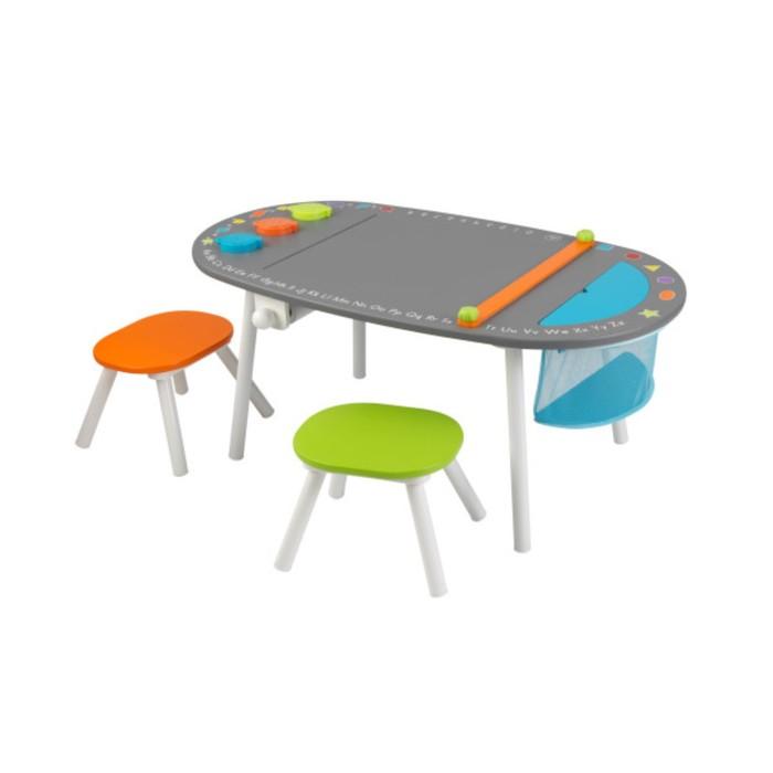 Детский игровой набор мебели, стол и 2 стула