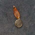 Брелок-талисман, натуральный янтарь