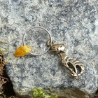 "Keychain mascot ""Cat"", natural amber"