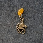 "Keychain mascot ""Unicorn"", natural amber"