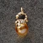 """Keychain mascot """"Scorpio"""", natural amber"""