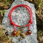 "Charm bracelet ""the Red thread. Fish"" pendant, amber"