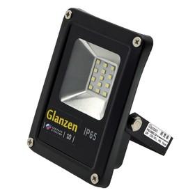 Светодиодный прожектор GLANZEN, 10 Вт, 6000-6500К, 900Лм, SMD, IP65, 90-240 В, FAD-0001-10