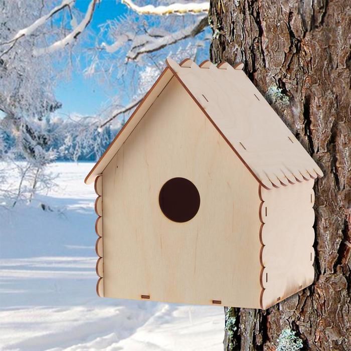 """Кормушка для птиц """"Домик с окошком"""", 20×26×21 см"""