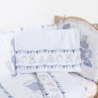 """Комплект в кроватку (6 предметов) """"Мишки и зайки"""", цвет голубой, бязь, хл100% - фото 105559791"""