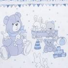 """Комплект в кроватку (6 предметов) """"Мишки и зайки"""", цвет голубой, бязь, хл100% - фото 105559793"""