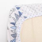 """Комплект в кроватку (6 предметов) """"Мишки и зайки"""", цвет голубой, бязь, хл100% - фото 105559795"""