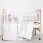 """Комплект в кроватку (6 предметов) """"Мишки и зайки"""", цвет бежевый, бязь, хл100% - фото 105559893"""