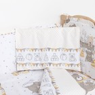 """Комплект в кроватку (6 предметов) """"Мишки и зайки"""", цвет бежевый, бязь, хл100% - фото 105559894"""